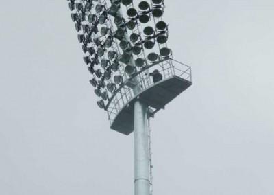 Climbing Cazaly's Platform Poles