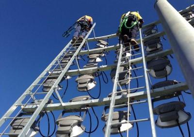 Climbing headframe, NIB Stadium