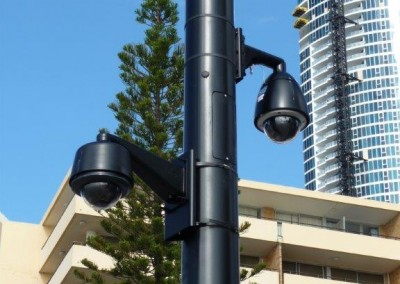 Surveillance camera mounting