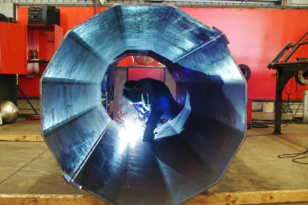 Brookvale Oval base shaft fabrication