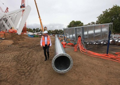 Construction at NIB Stadium
