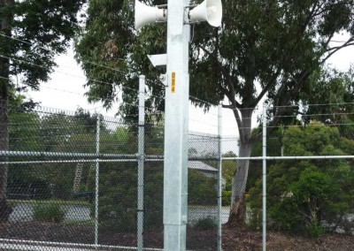 Hinged Surveillance & comms pole