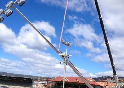 Standing Poles, North Hobart Oval