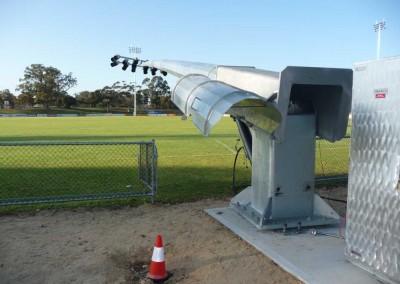 35m Hydraulic Pole, Hands Oval